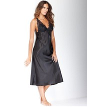 Flora by Flora Nikrooz Noel Satin Long Gown T80266 Black Small - $26.60