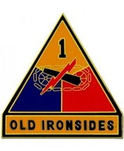 US Army 1st Armored Divison Combat Service Badge (2 inch) - $14.84