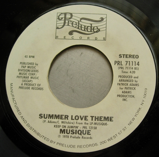 Musique - Keep On Jumpin' / Summer Love Theme - Prelude Records - PRL 71114