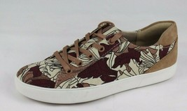 Naturalizer Morrison women's taupe print sneaker fabric leather top low size 8N - $54.33 CAD