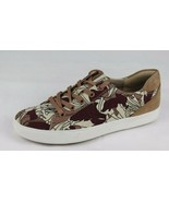 Naturalizer Morrison women's taupe print sneaker fabric leather top low ... - $39.98