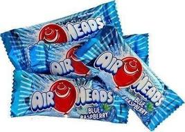 Mini Airheads BLUE RASPBERRY Airheads Blue Raspberry Mini Bars Bulk Cand... - $24.97