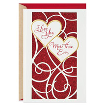 Love You More Than Ever Valentine's Day Card With Envelope - $6.99