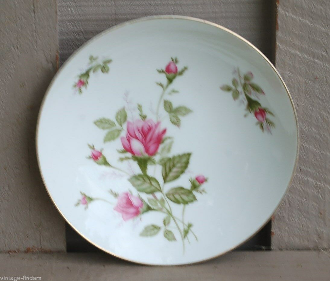 Vintage Sango Coupe Soup Bowl Wildrose Pattern ~ Pink Roses w Gold Trim ~ Japan - $14.84
