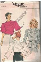 8747 Non Tagliati Vogue Cartamodello Misses Sciolto Aderenti Pullover Bl... - $6.88