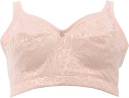 Breezies Jacquard Shine Unlined Wirefree Support Bra Pink Dogwood 38 NEW... - $13.84