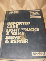 MITCHELL 1988 IMPORTED CARS LIGHT TRUCKS & VANS SERVICE REPAIR TUNE-UP E... - $7.99