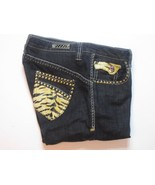 Coogi Womens Jeans Size 9/10 Inseam 32 Black Leopard Print Back Pockets #L1 - $19.99
