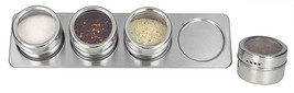 Home Basics Essence Magnetic Steel Spice Rack 4... - $14.33