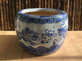 Antique Meiji Period Japanese Hibachi Flower Pot Porcelain - 0701-0028 - $545.00