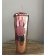 NEW Starbucks Iridescent Rose Gold Tumbler Summer 2020 Limited Edition N... - $39.59
