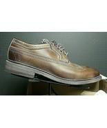 *NEW* Men's FRYE James Wingtip Antiqued Burnished Brown Leather Oxford S... - $123.03