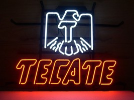 "New Cerveza Tecate Light Beer Pub Bar Handcrafted Neon Light Sign 17""x14... - $95.00"