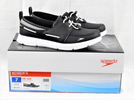 Speedo Women's Size 7 Port Shoes Black Lightweight Boat Shoes w/ Tractio... - $24.95