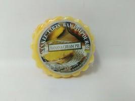 Yankee Candle Banana Cream Pie Potpourri Candle Wax Tart VTG Rare Retired - $14.84