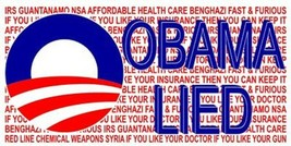 Wholesale Lot 6 Obama Lied USA Ex President Text Decal Bumper Sticker - $13.88