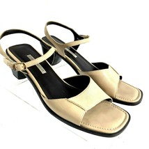Easy Spirit Tan Leather Sandals Size 9.5M Made in Brazil - $24.02