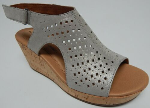Rockport Lyla Capuche Bride Sz US 8.5 M EU 39.5 Femmes Cuir Wedge Sandale CI0832 - $62.26