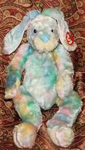"Ty Classic Buddy Twitcher Bunny Plush Tie Dye Pastel 16"" Easter Rabbit N... - $18.69"