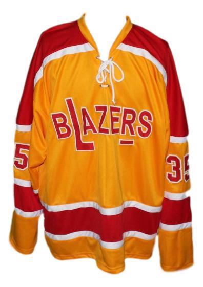 Custom philadelphia blazers retro hockey jersey orange  1