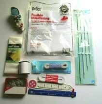 Lot of 10 Notions - Dritz 9021 Upholstery Needles,elastic, Shoe Pincushi... - $12.86