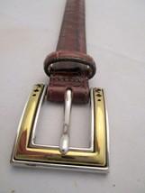 Womens Brighton Brown Croc Belt M 30 Style B10098 New WO Tags Stunning B... - $19.79