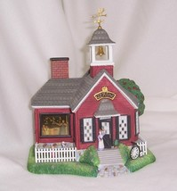 PartyLite Olde World Village School House Hand Painted Bisque Porcelain ... - $28.66