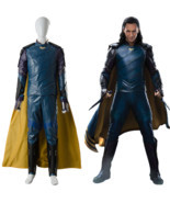 The Avengers Thor 3 Ragnarok Loki Tom Sakaar Suit Cape Cosplay Costume O... - ₹16,807.20 INR+