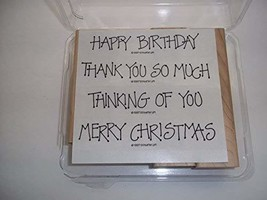 Stampin Up Greetings 4 You Rubber Stamps Set of 4 - $29.99
