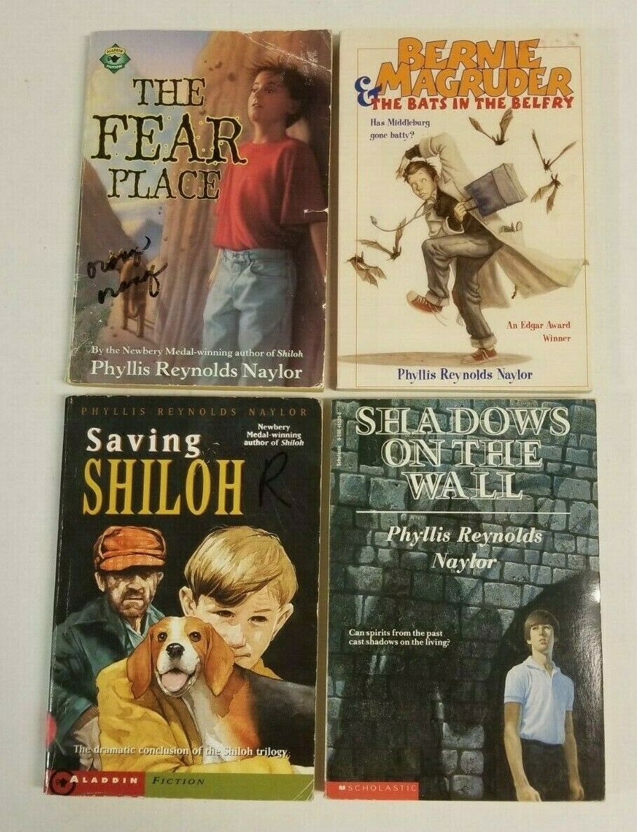 Primary image for Lot of 4 PHYLLIS REYNOLDS NAYLOR Books Shiloh Fear Place Boys Chapter Series