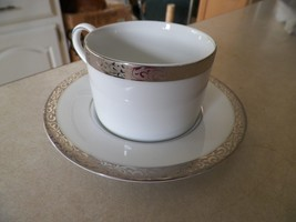 Nikko Platinum Filigree cup and saucer 1 available - $3.91