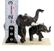 Hagen Renaker Miniature Elephant Mama & Baby Ceramic Figurine image 2