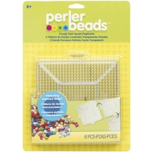 Perler 80-22666 Fused Bead Pegboard Square Large Clear - $13.28