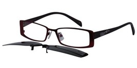 EBE Bifocal Reading Glasses Men Women Rectangular Clip On Sun Readers Anti Glare - $25.03