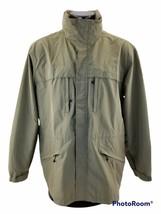 Eddie Bauer Weather Edge Coat Mens  Jacket Lightweight Tan  With Hood Si... - $42.55
