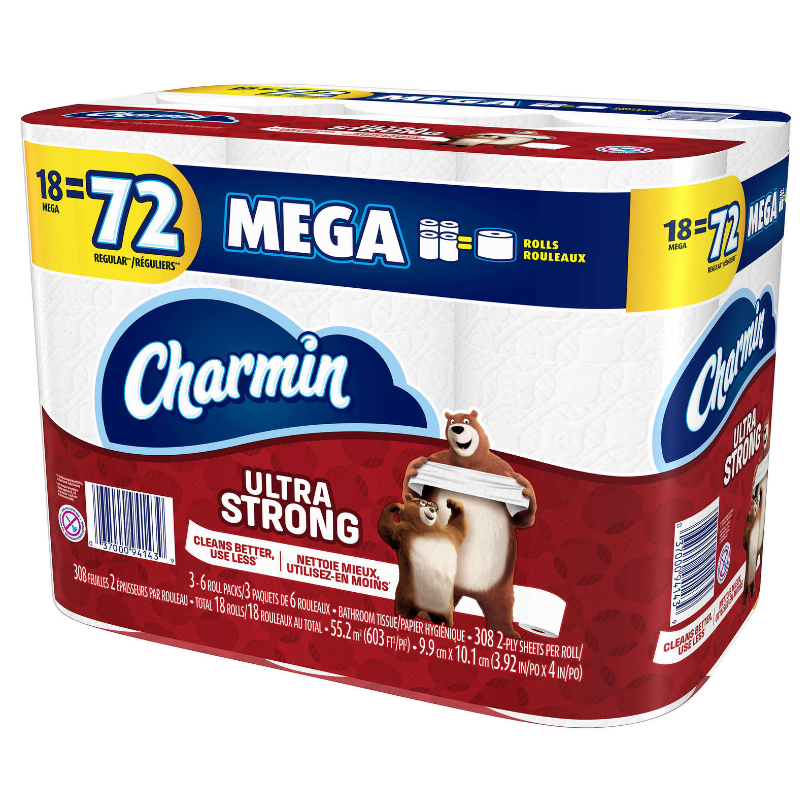Primary image for CHARMIN ULTRA STRONG TOILET PAPER 18 MEGA ROLLS = 72 REGULAR ROLLS PACK