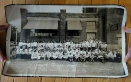 antique GROUND GRIPPER SHOE CO.LONG PHOTO~BLDG & PEOPLE~CANTILEVER harri... - $42.50