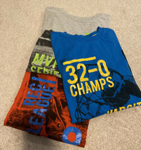 Gap Fit Boys Short Sleeve Sports Theme Tee Shirts Size Large (Set Of 3) - $9.49