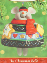 Hallmark Ornament THE CHRISTMAS BELLE Mouse with Cookie & Cheese New in ... - £7.70 GBP