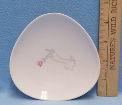 Rosen Thale Triangle Plate Selb Germany Hand With Rose White Small Decor... - $9.46