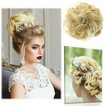 Natural Color Curly Messy Bun Hair Piece Scrunchie Hair Extension image 8