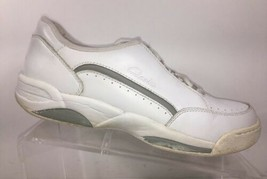 Clarks Women's Sneakers size 9 M White Leather Athletic Walking Shoes - $29.17