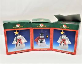 "Kurt S. Alder North Pole Santa`s World 4"" Cat Ornament Lot of 4 - $28.70"