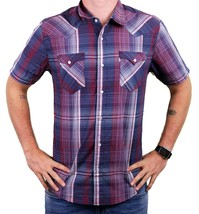 NEW LEVI'S MEN'S CLASSIC COTTON CASUAL BUTTON UP PLAID INDIGO RED RDCR-3LYSW6102