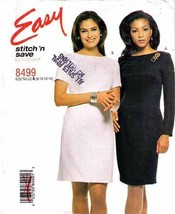 1996 Misses' FITTED DRESS McCall's Easy Pattern 8499-m  Size 8-10-12-14 - UNCUT - $12.00