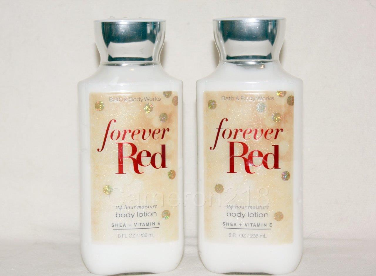 Primary image for Bath & Body Works Forever Red 24 Hour Moisture Body Lotion 8 fl. Oz Quantity 2