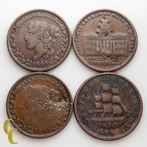 1837 & (3) 1841 Hard Times Tokens Lot Of 4 Coins Liberty Not 1 Cent (VF-ABT XF) - $59.70