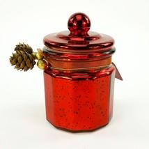Pier 1 Swizzlewick Candle Holiday Memories Red Metallic 13oz Glass Jar NEW - $20.56