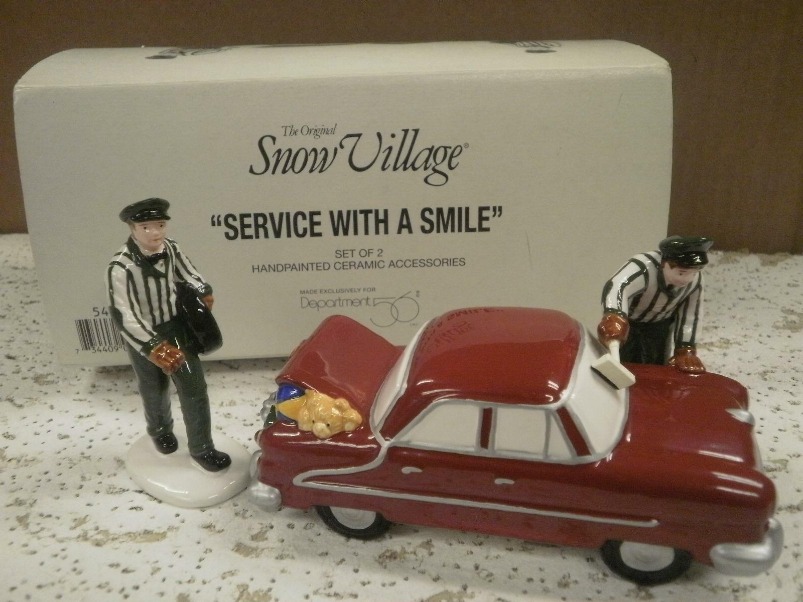 Primary image for DEPARTMENT 56- RETIRED- 54865 SERVICE WITH A SMILE NEW IN BOX -L131