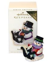 Hallmark 2006 NIB Snow Buddies Snowman Skunk Colorway Repaint Ornament - $44.95